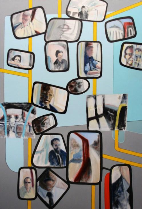 "Drivers - 62x42"" - Acrylic on canvas"