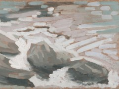 "River Rocks 1 - 6x8"" - Oil on panel"