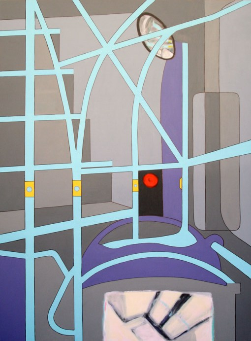 "Upstairs - 62x36"" - Acrylic on canvas"