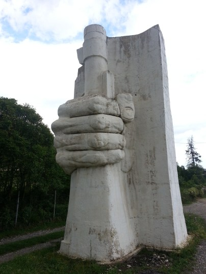 Statue in Albania - picture courtesy of Edward Reeves