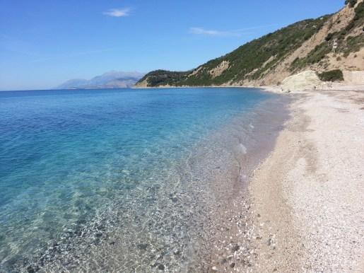 Pristine Albanian coast