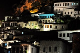 Albania by night