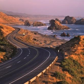 Route 101 coastal road - courtesy of Travel Oregon.