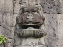 A stone carving at Okinawa's Shurijo Castle Park. ©Akimasa Yuasa/©JNTO