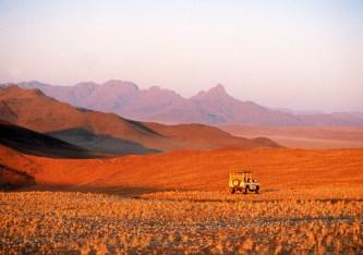 Namibia jeep safari - picture courtesy of Namibia Tourist Board.