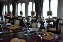 The dining room in the AuCo was a lovely place to enjoy some great food.