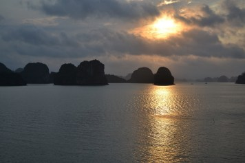 Getting up at 5:30 to see the sunrise over Halong Bay was a magical experience.