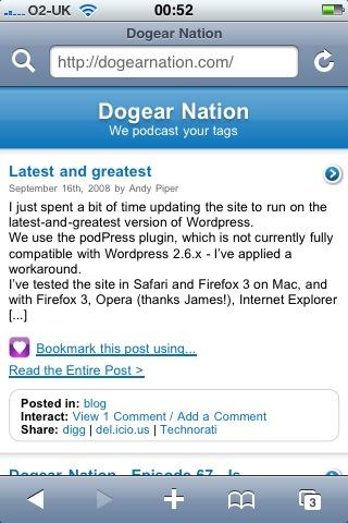 Dogear Nation iPhone screenshot