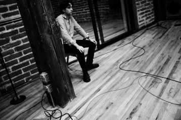 In studio. Photo by Mikel Patrick Avery.