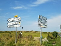 Signs in Normandy.