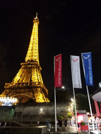 The Eiffel Tower on our final night in Paris.