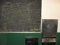 Cody's public restroom grafitti board