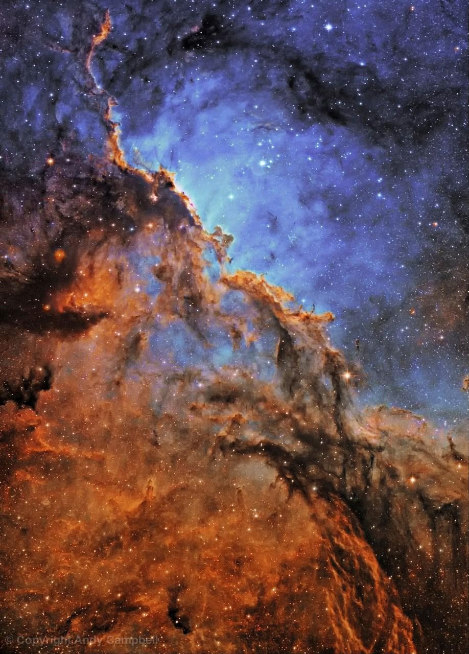 Deep Space Nebula Narrowband image NGC 6188 in Ara