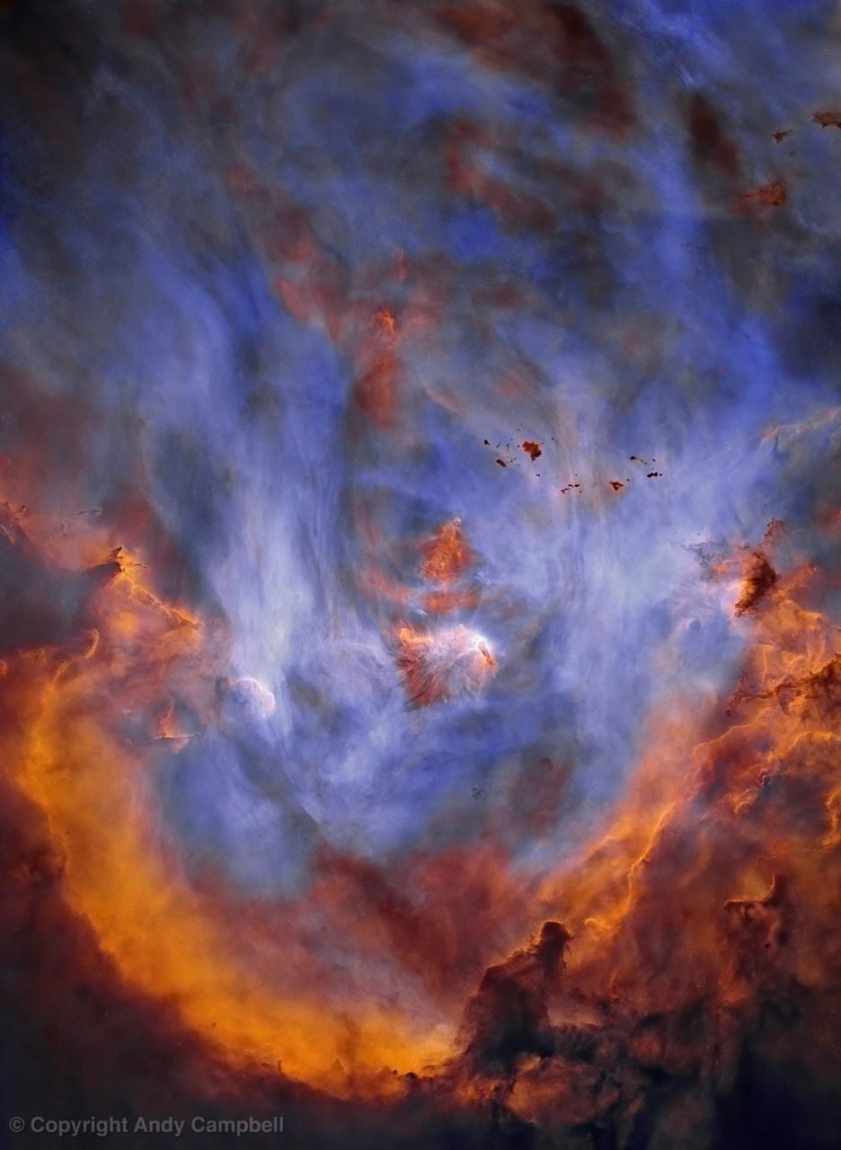 ic 2944 starless nebula in Narrowband