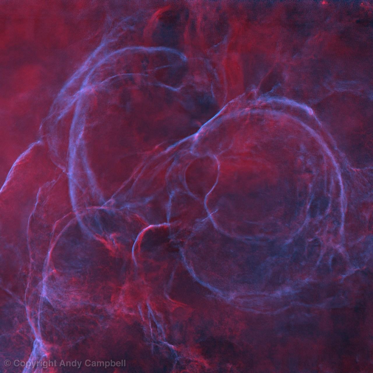 Vela Supernova remnant Loops starless
