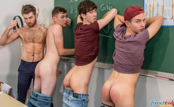 AndysBestSites FrenchTwinks Three Boys Their Teacher One Hour Detention