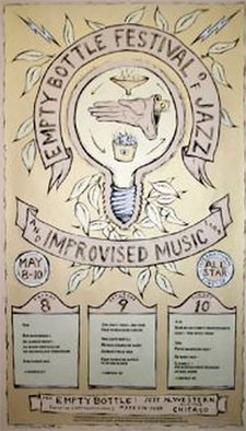 poster from 2nd Jazz and Improvised fest at Empty Bottle Chicago 1998