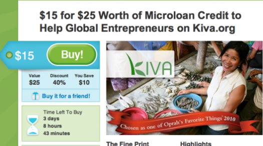 Groupon Kiva Donors Choose charity donate holiday