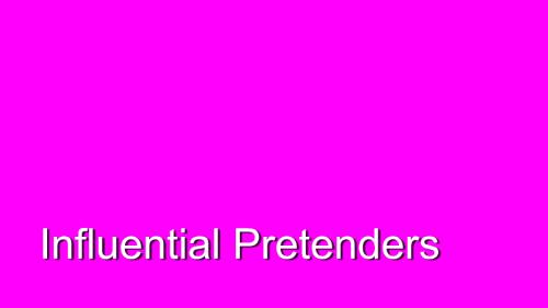 Relish. Influential Pretenders