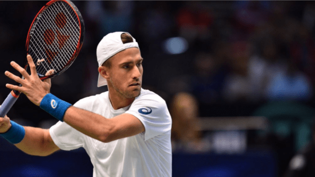 Steve Johnson. Now 1-1 in Davis Cup singles rubbers for Team USA