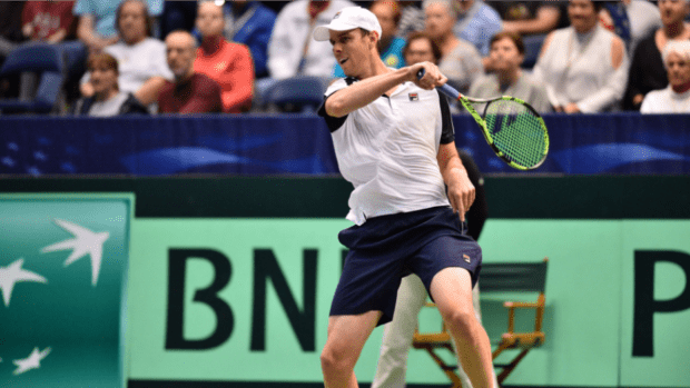 Sam Querrey. One win closer to a .500 average in Davis Cup singles rubbers for Team USA