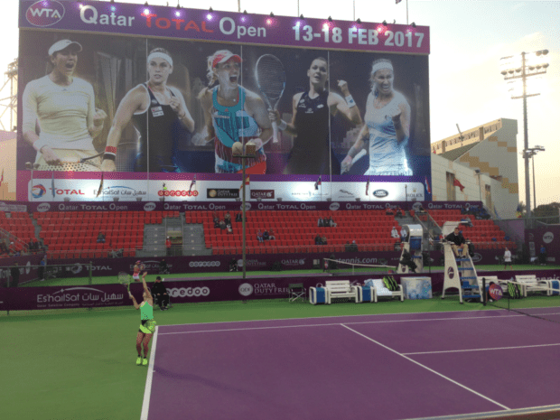 Team USA. Cici Bellis. Her first tournament of 2017 at the Qatar Total Open.