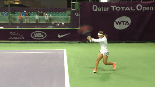 Team USA. Lauren Davis. Into the final round of qualifying in Doha.