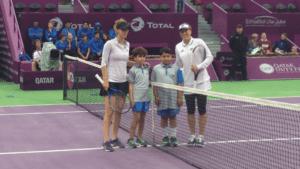 Tsvetana Pironkova and Jelena Jankovic. Final round of qualifying. Doha 2017