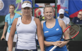 All business. Coco Vandeweghe's lucid focus earned three wins for Team USA. © Susan Mullane