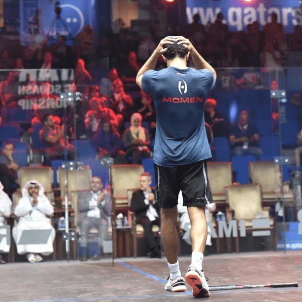 Andy Taylor. Sports Host. Qatar Classic Squash Championship. Day 5. Semifinals. Tarek Momen