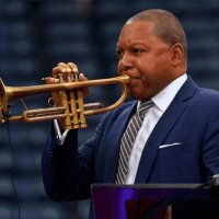 Andy Taylor Announcer. 2018 US Open. Wynton Marsalis performs at the Louis Armstrong Stadium Dedication