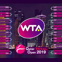 Announcer Andy Taylor. 2019 Qatar Total Open. Draw Ceremony