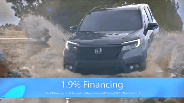 Andy Taylor Voice Over. Don Wessel Honda. 1.9 Clearance Financing