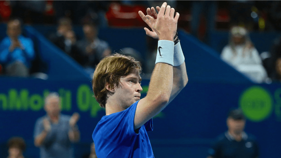 Andy Taylor Announcer. Qatar ExxonMobil Open 2020. Semifinal. Andrey Rublev