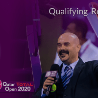 Andy Taylor Announcer. Qatar Total Open 2020. Qualifying Round-2