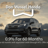 Voice Over Andy Taylor. Don Wessel Honda. 2020 Special Low Financing