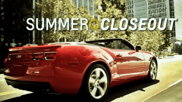 Voice Over Andy Taylor. Television Commercial. Washington Chevrolet Summer Closeout 2014