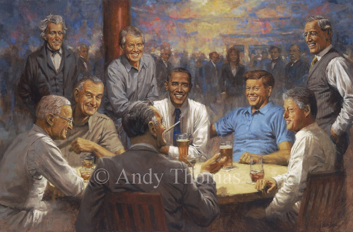 About Andy Thomas Who Painted The Quot Tacky Quot Trump Print