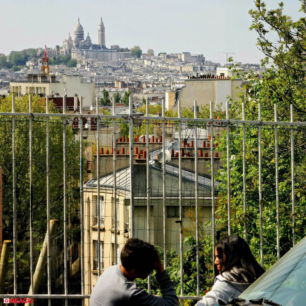Montmartre seen from Butte Bergeyre