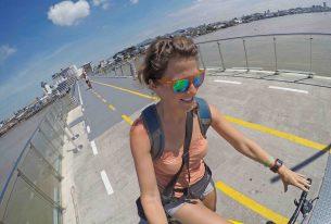 On the bike/pedestrain bridge to Isla Santay