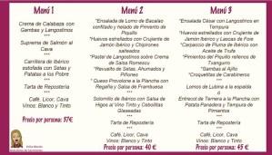 menus comida navidad empresa