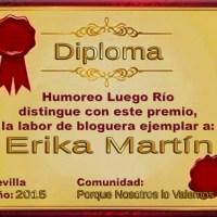 Diploma Bloguera ejemplar