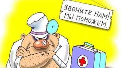 Доктор, у меня болит вот здесь, здесь и здесь! - Анекдоты