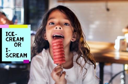 Kid eating an ice-cream