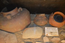 Unearthed pottery shards from the basement of the museum that are believed to have been sold by Chinese traders to the early Filipinos.