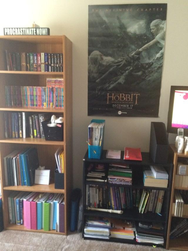 After bookshelves