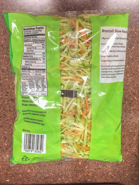 trader joe organic broccoli slaw