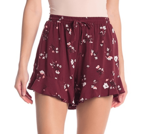 Love Fire Ruffle Hem Shorts