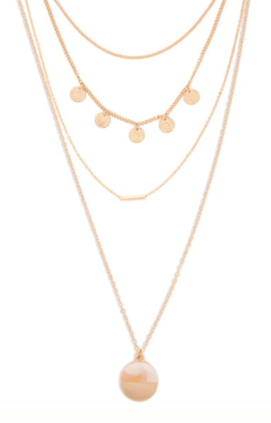 Disc & Bar Chain Necklace Set FOREVER 21