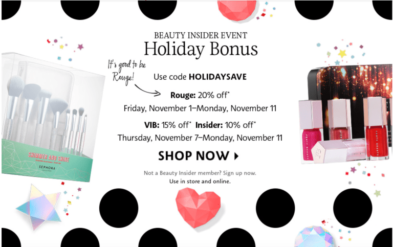 Sephora Holiday sale